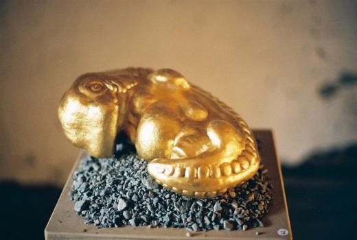 Mit Blattgold 30cm